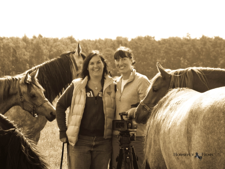 Jen and Soph with Michalow colts